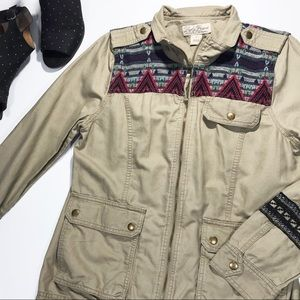 Jackets & Blazers - Lucky Brand Newport Embroidered Utility Jacket